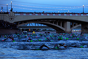 00:02:20 - swimming at Ironman Arizona 2012