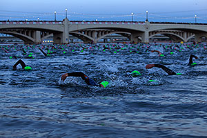 00:02:31 - swimming at Ironman Arizona 2012