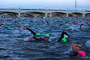 00:03:23 - swimming at Ironman Arizona 2012