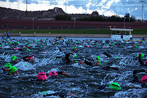 00:03:43 - swimming at Ironman Arizona 2012