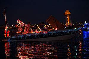 Boat #35 at APS Fantasy of Lights Boat Parade