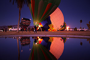 Balloon Night Glow Reflections at Lake Havasu Balloon Fest