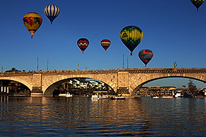 Balloons above London Bridge at Lake Havasu City