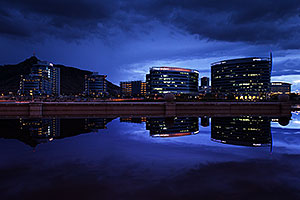 Buildings reflections at Tempe Town Lake