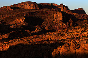 Apache Trail mountains in the evening