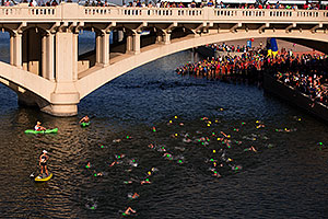 Swimming at Tempe Triathlon