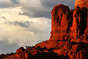 Red rocks of Cathedral Rock in the evening in Sedona