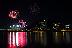 Fireworks at Tempe Town Lake
