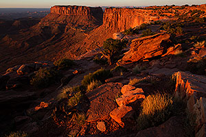 Sunrise at Grand View in Canyonlands National Park