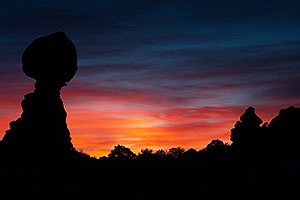 Balanced Rock in Arches National Park at sunrise