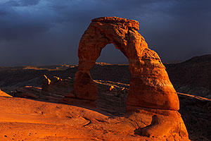 People at Delicate Arch in Arches National Park