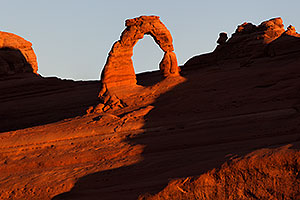 Sunrise at Delicate Arch in Arches National Park