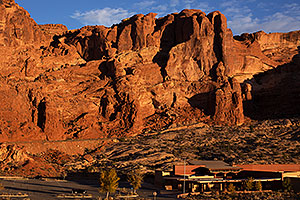 Along road in Arches National Park