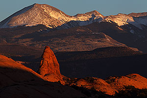 La Sal Mountains in Moab