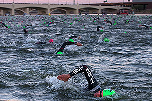 - Swimming at Ironman Arizona 2013