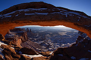 Sunrise at Mesa Arch in Canyonlands National Park