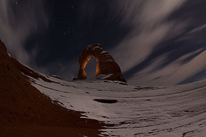 Night at Delicate Arch in Arches National Park