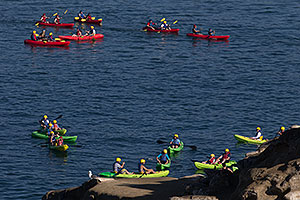 Kayakers in La Jolla, California