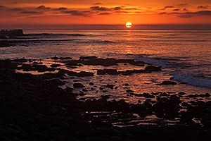 Sunset at La Jolla, California