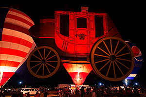 Wells Fargo Stagecoach and Pepsi and US Flag (Special Shapes) at Lake Havasu Balloon Fest