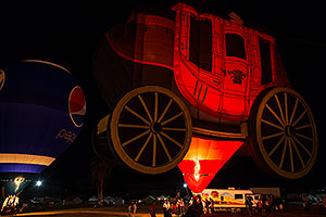 Wells Fargo Stagecoach and Pepsi (Special Shape) at Lake Havasu Balloon Fest