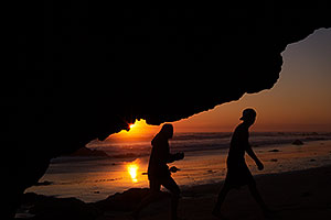 Sunset at El Matador Beach, California