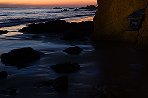 After sunset at El Matador Beach, California