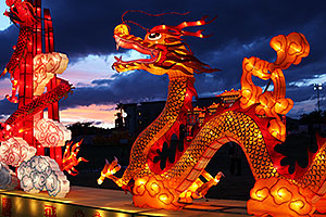 Dragon at Chinese New Year Lantern Culture and Arts Festival 2014