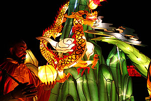 Xiang Long Fu Hu can defeat the tiger and the dragon - Chinese New Year Lanterns