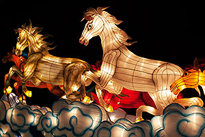 Horses at Chinese New Year Lantern Culture and Arts Festival 2014