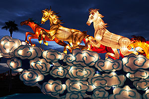 8 Horses at Chinese New Year Lantern Culture and Arts Festival 2014