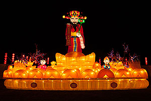 Wealth God at Chinese New Year Lantern Culture and Arts Festival 2014