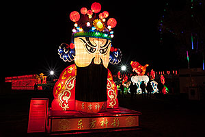 Peking Theater Mask at Chinese New Year Lantern Culture and Arts Festival 2014