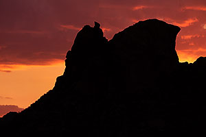 Sunset at Mesa Rock in Superstitions