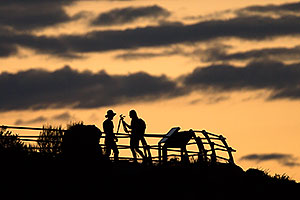 People Silhouettes at Hopi Point in Grand Canyon