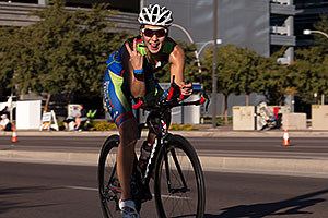 01:40:21 cycling at Ironman Arizona 2014