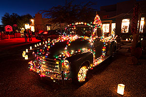 Truck at Luminaria Nights in Tubac, Arizona