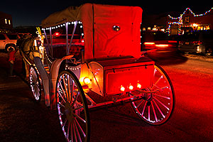 Horse and carriage at Luminaria Nights in Tubac, Arizona