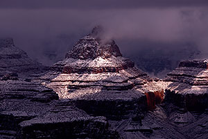 Snow in Grand Canyon, Arizona