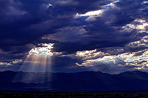 Monsoon Clouds by Stovepipe Wells in Death Valley, California
