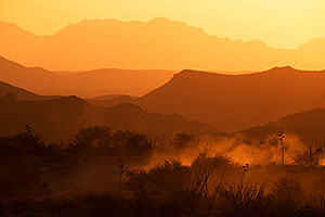 Sunset in Superstitions, Arizona