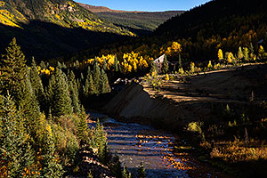 Mineral Creek flowing into Silverton, Colorado