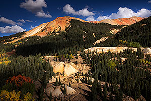 Red Mountain along Red Mountain Pass, Colorado