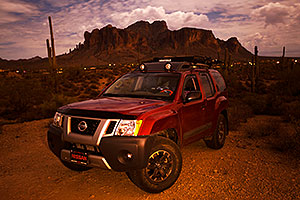 Xterra in Superstitions at night