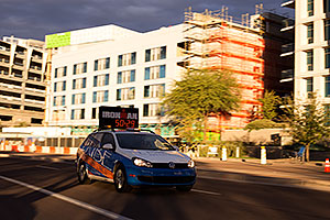 Pace car showing 00:50:29 at Ironman Arizona 2015