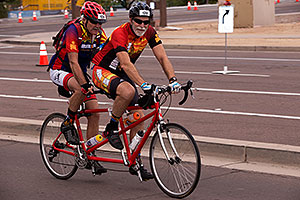 04:20:05 #128 and #129 (blind) cycling at Ironman Arizona 2015