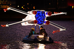 Star Wars boat at APS Fantasy of Lights Boat Parade
