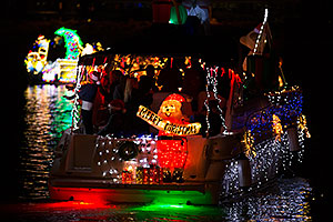 Merry Christmas boat at APS Fantasy of Lights Boat Parade