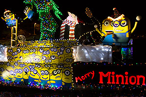 Boat #11 with Minions at APS Fantasy of Lights Boat Parade