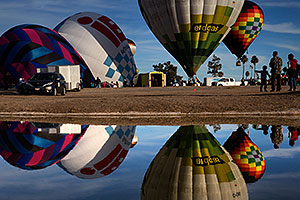 Balloon reflections in Lake Havasu